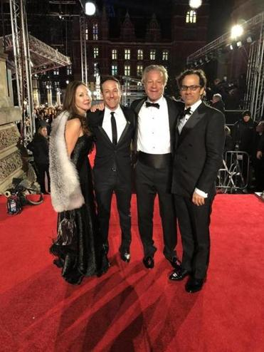 "From right: ""Icarus"" producers Dan Cogan and David Fialkow, director Bryan Fogel, and Fialkow's wife, Nina."